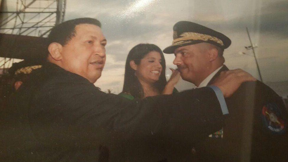 Cliver Alcala and late Venezuelan president Hugo Chavez