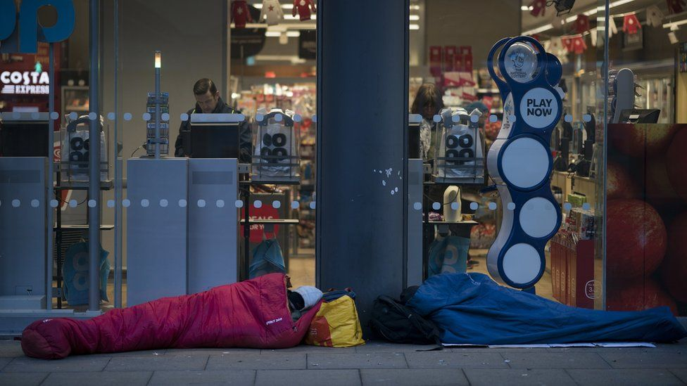 Rough sleepers in Manchester, 2017