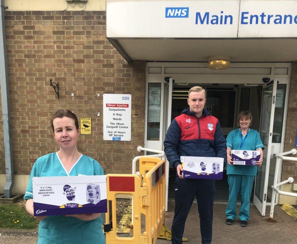 NHS workers receive Easter eggs