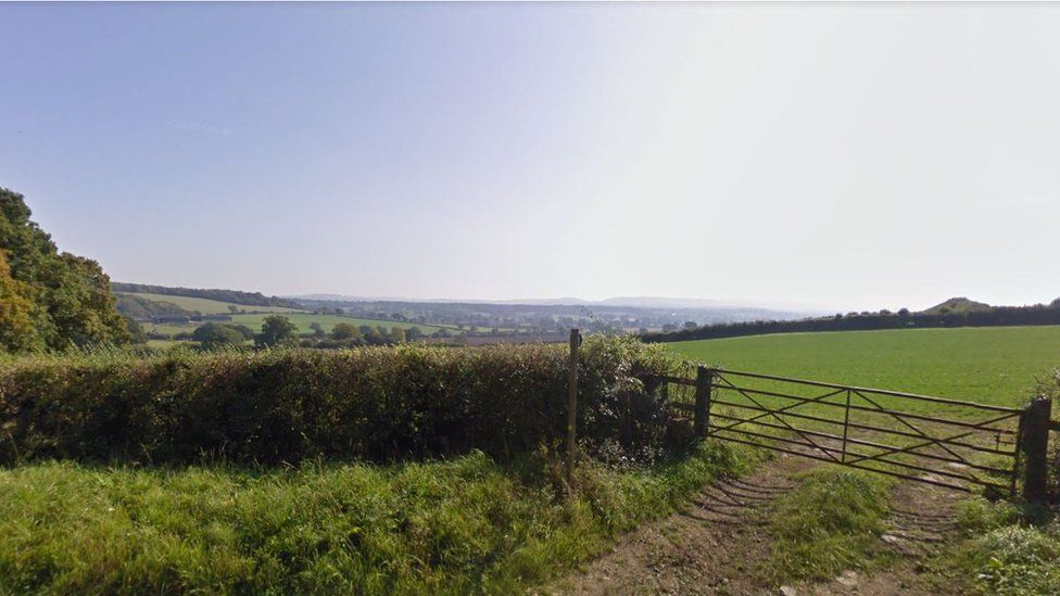 The valley where the solar farm would be situated