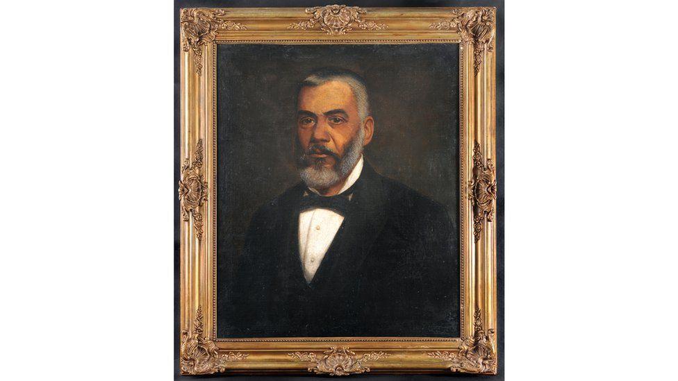 Imagem mostra quadro com pintura do Barão de Guaraciaba