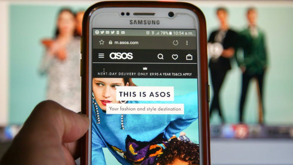 Asos screen on mobile