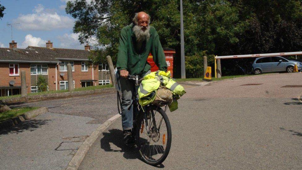 Balin Hobbs on his bike