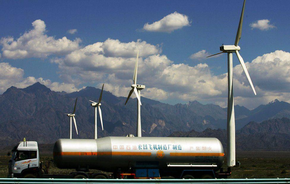 Wind farm, China