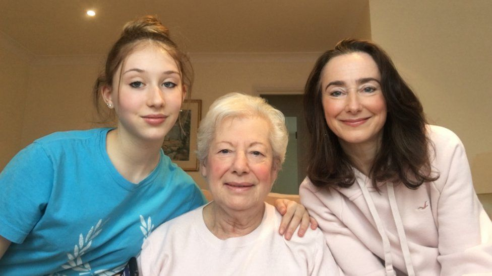 Lauren with grandmother Jackie and mum Stacey
