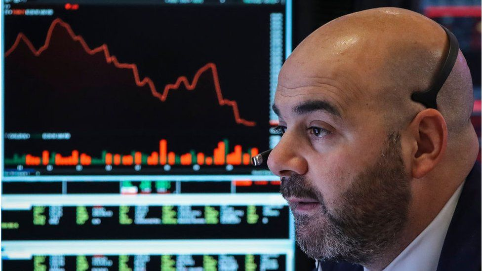 A Wall Street trader