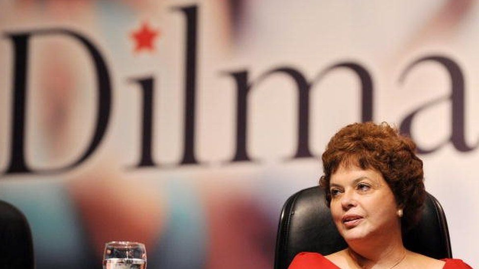 Brazilian Chief of Staff Dilma Rousseff is seen during the Workers' Party Convention in Brasilia on February 20, 2010.