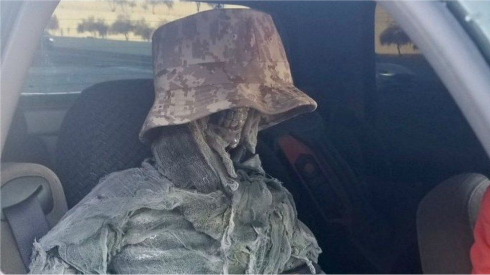 Arizona man dresses up fake skeleton to drive in HOV lane