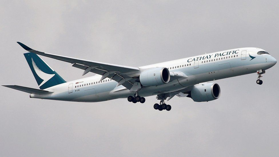 Generic image of a Cathay Pacific plane