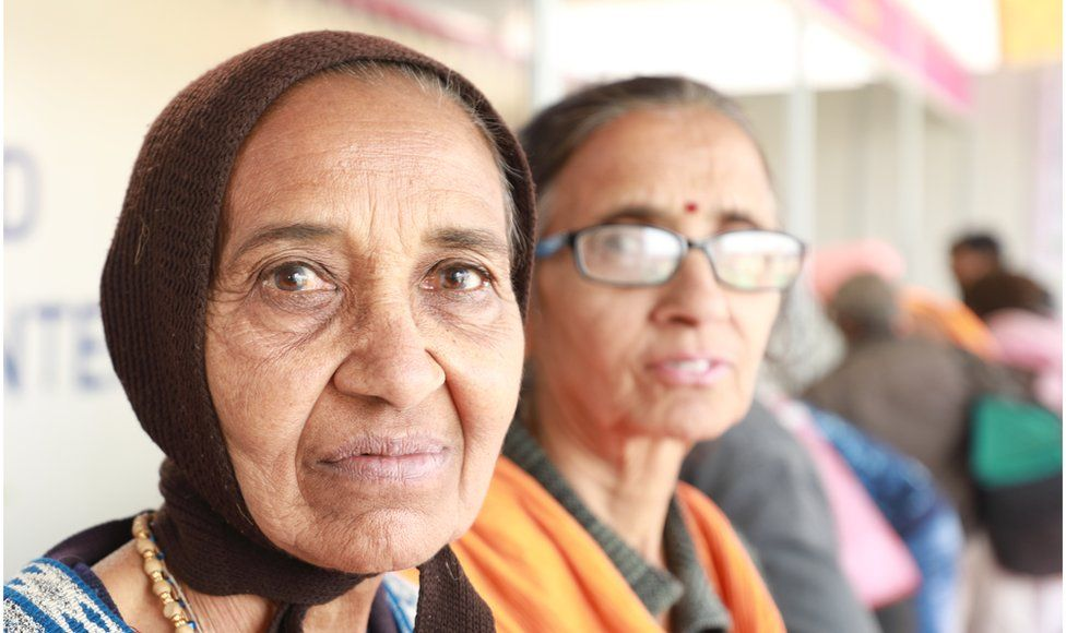 Prabha Ben Patel (left)