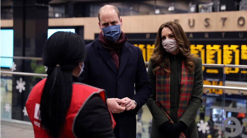 William and Kate speaking to London Euston staff on 6 December 2020