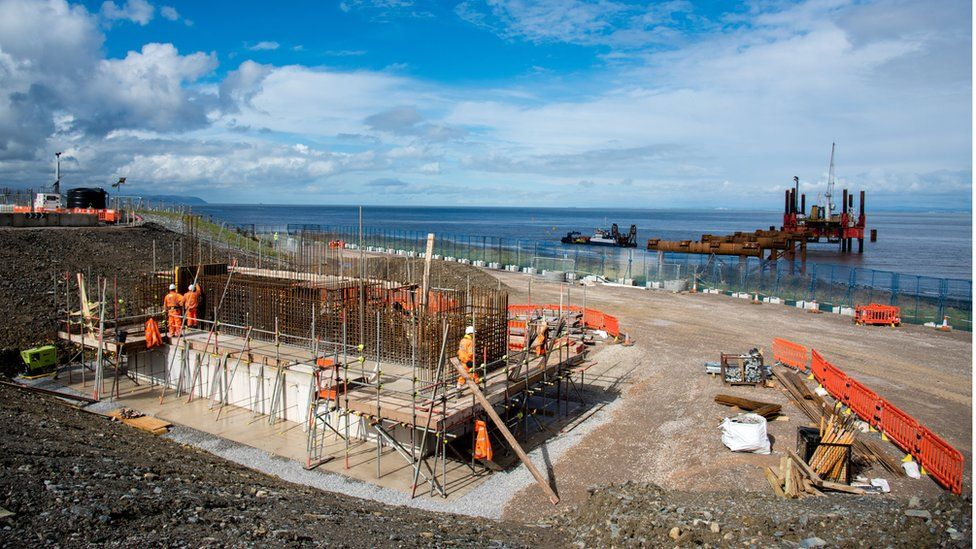 Early construction work at new Hinkley nuclear plants