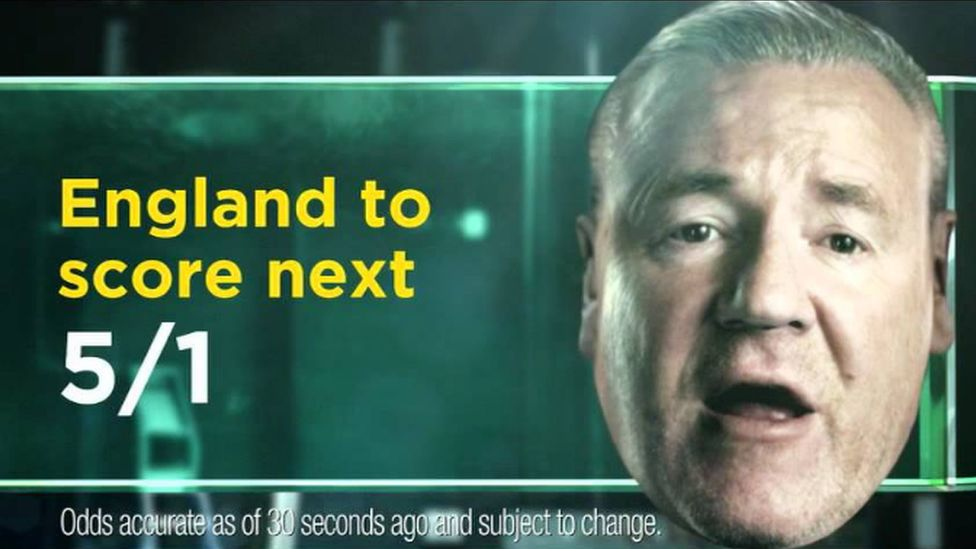 Actor Ray Winstone is the floating face of Bet365's advertising campaign