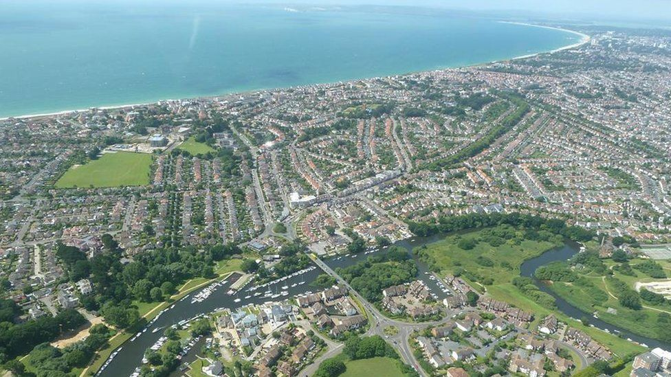 Aerial view of Christchurch