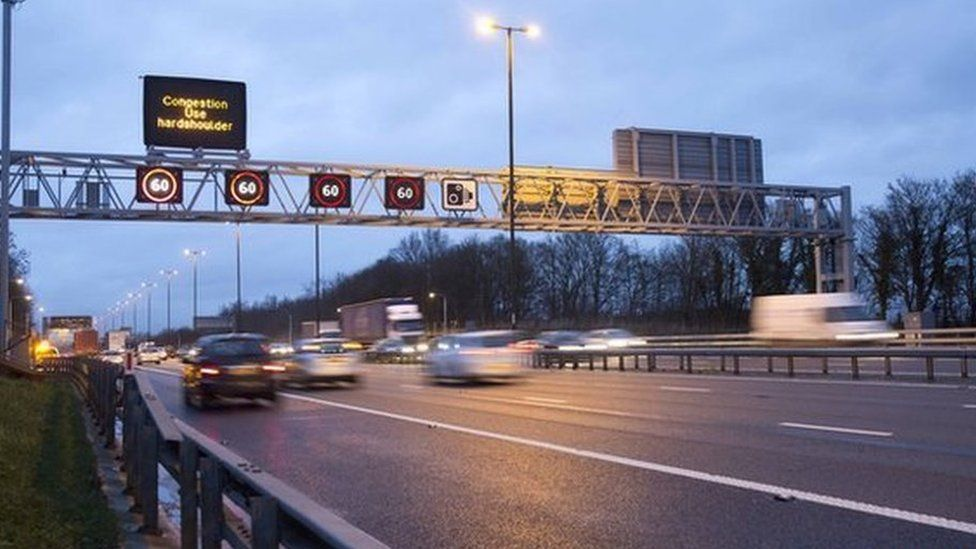 'Smart motorway' in operation on the M4/M5 junction