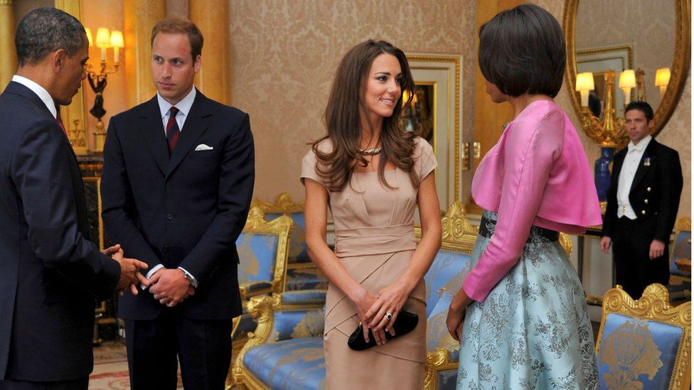 William and Kate with the Obamas at Buckingham Palace on 24 May 2011