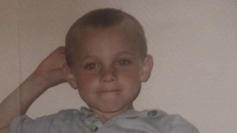 Rhys Dickinson as a child