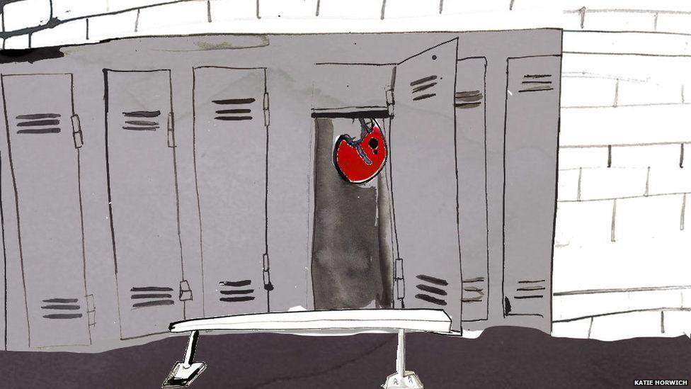 Illustration of empty locker