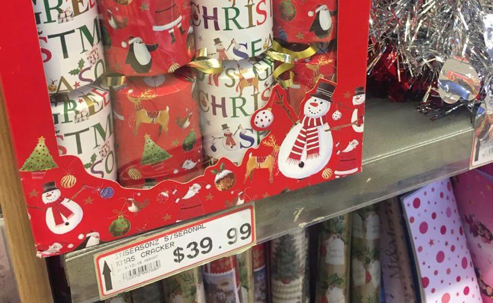 Box of Christmas crackers