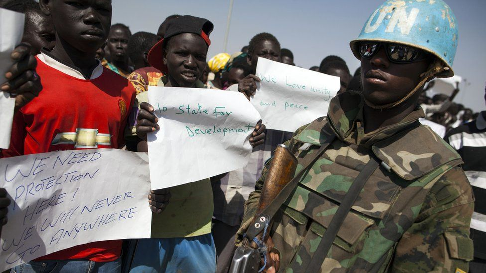 Internally displaced people in the UN camp in Malakal, Sudan