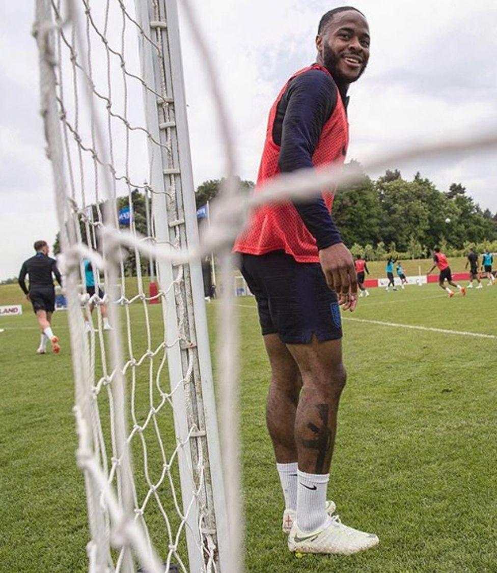 Raheem Sterling in training