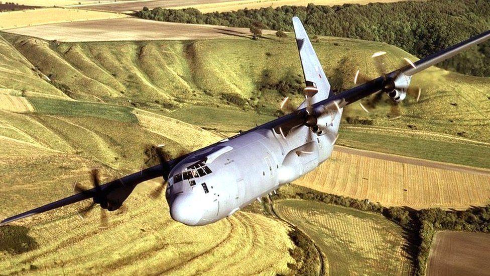 Hercules transport plane