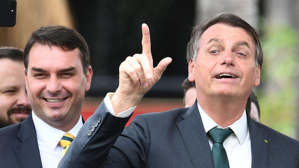 Flávio and Jair Bolsonaro