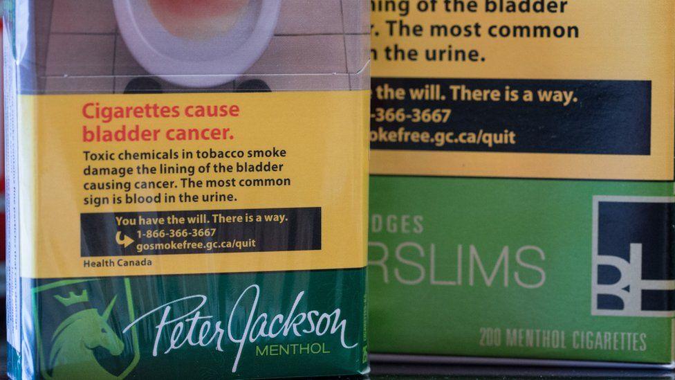 Canadian cigarette packs