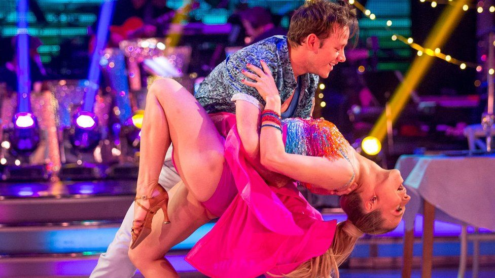 Kevin Clifton and Kellie Bright compete in this year's Strictly Come Dancing