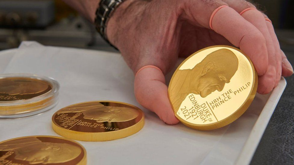 Armed Forces Day: Coin honouring Prince Philip unveiled - BBC News