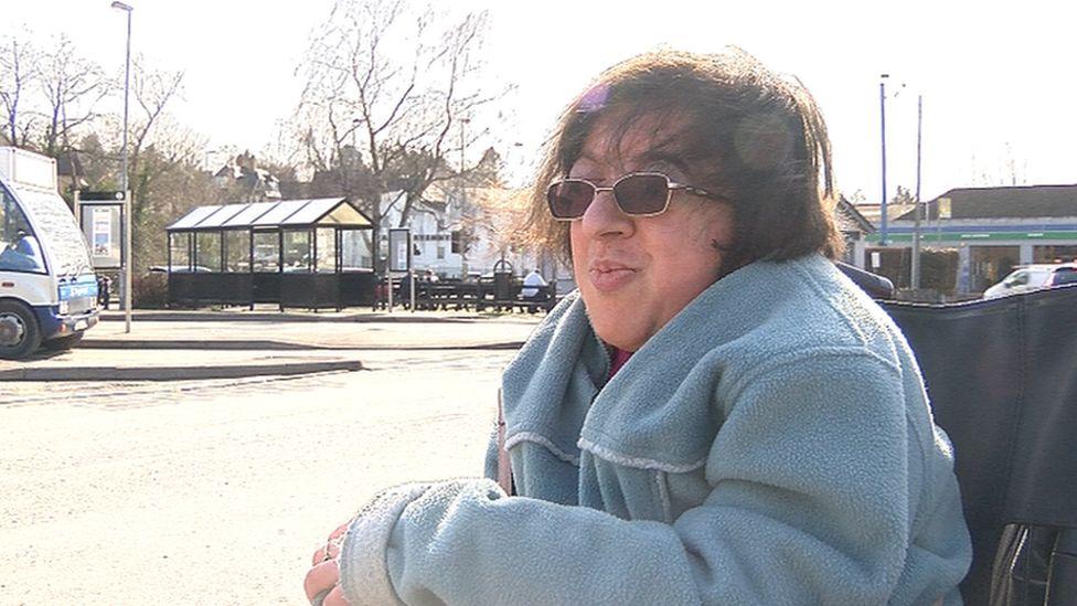 Wheelchair user Sarah Griffiths