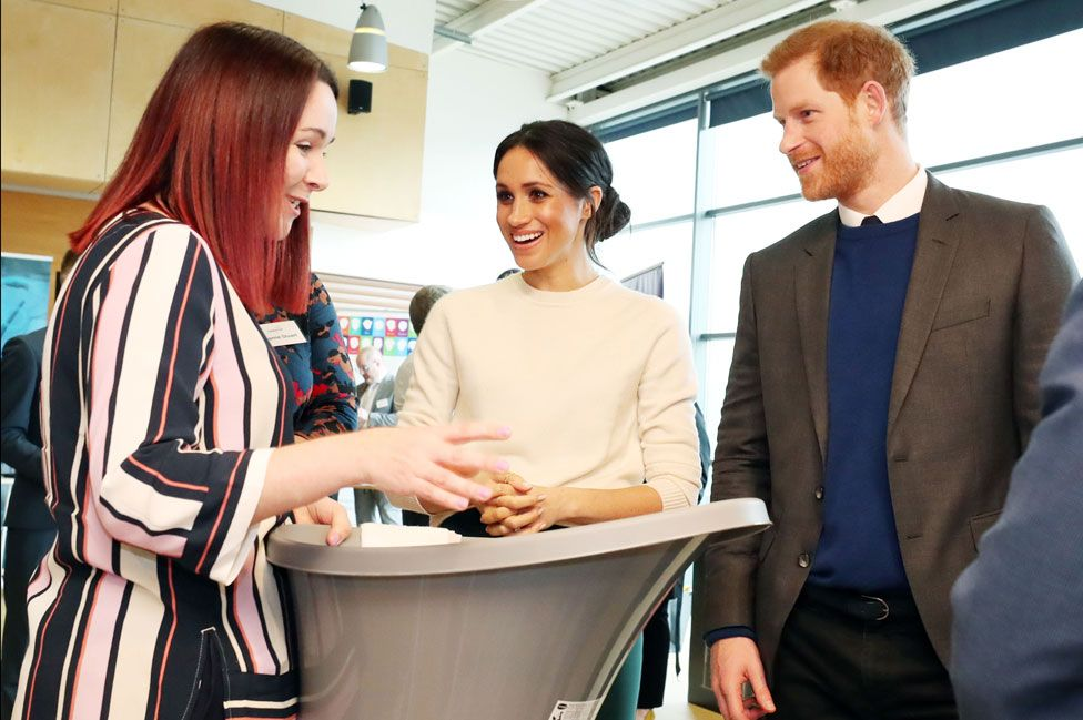 The Duke and Duchess of Sussex in Belfast in March