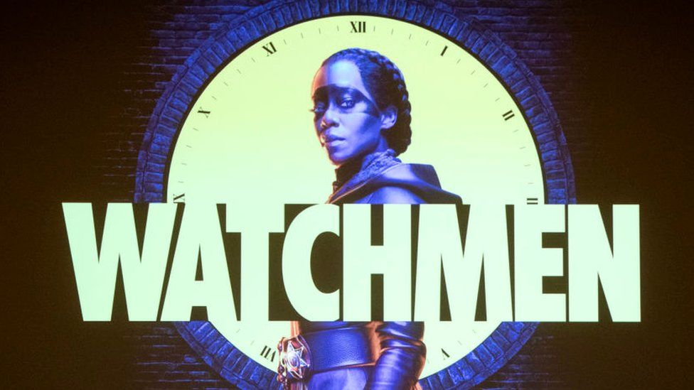 A poster for HBO series Watchmen