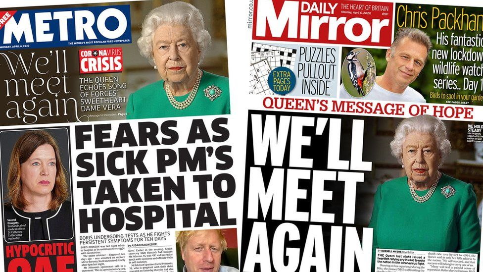 Front pages for 6 April 2020