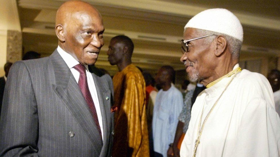 Senegalese President Abdoulaye Wade and Casamance separatist Father Augustin Diamacoune Senghor