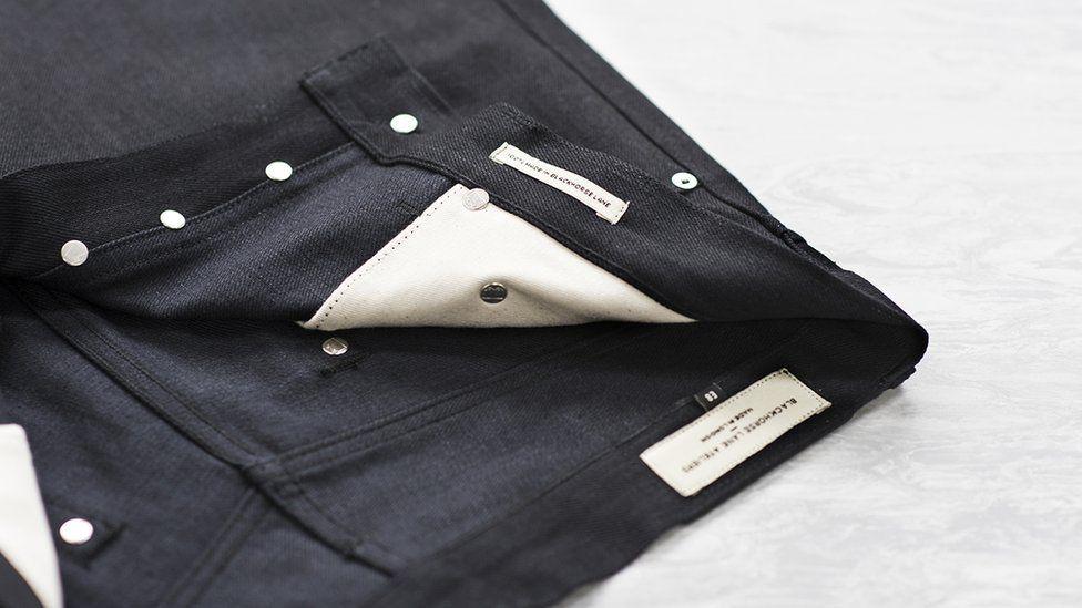 A pair of Blackhorse Lane Ateliers jeans