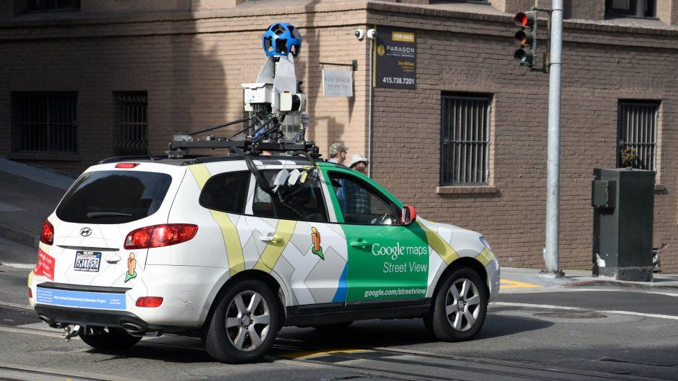 Google Maps Street View car in San Francisco.