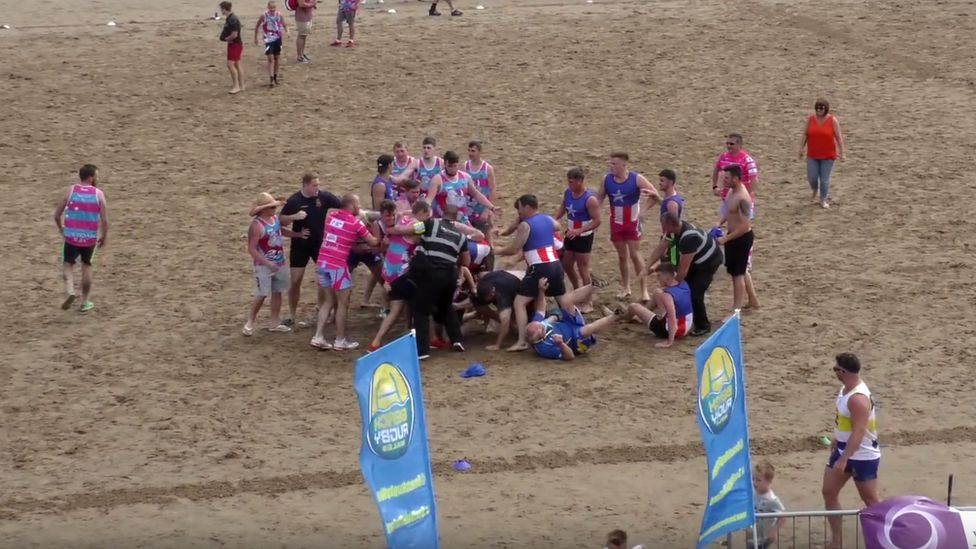 One of the brawls