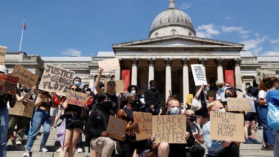 Black Lives Matter protest in Trafalgar Square
