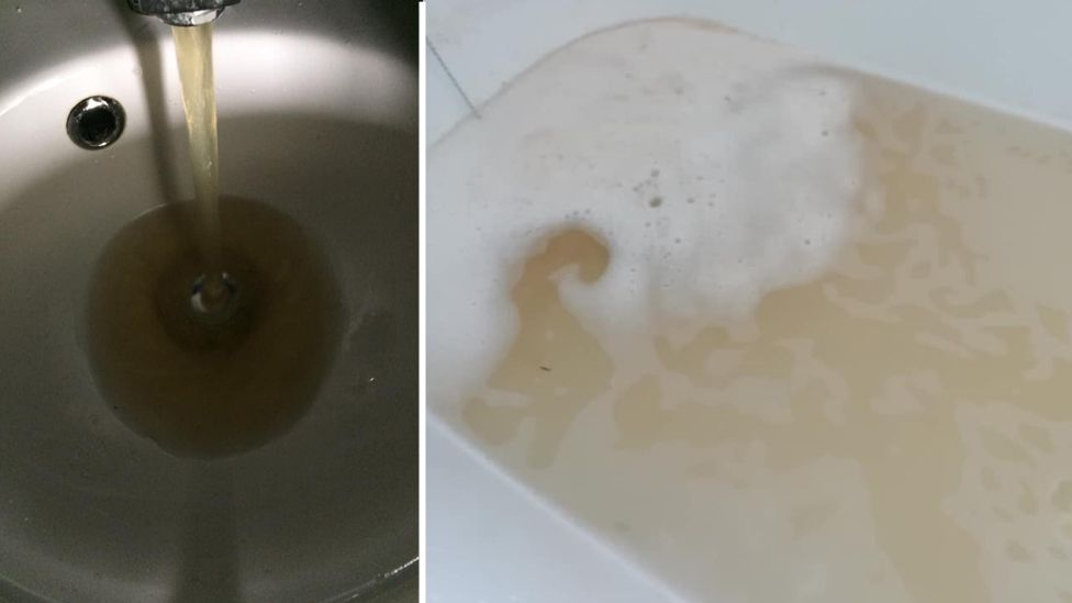 Discoloured water