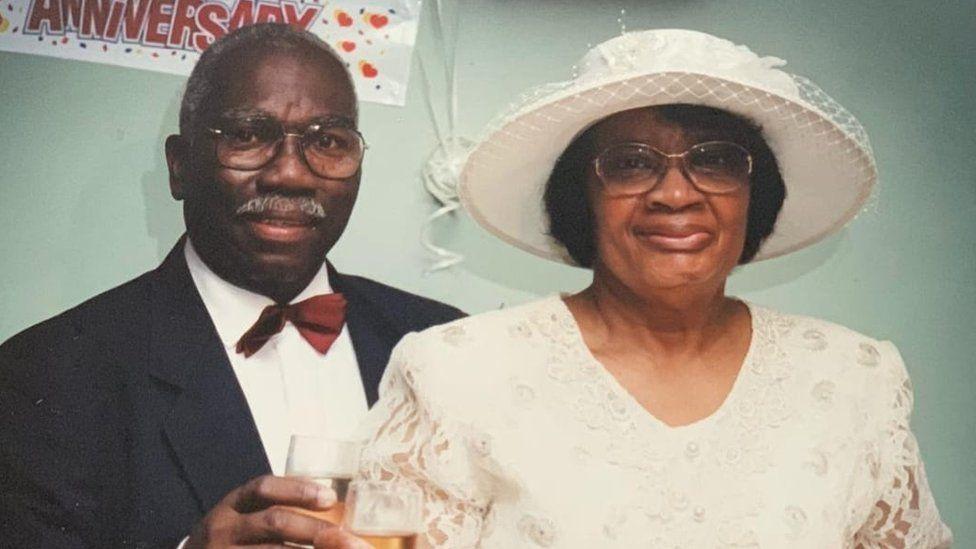 Sylvia with husband Aston Douglas