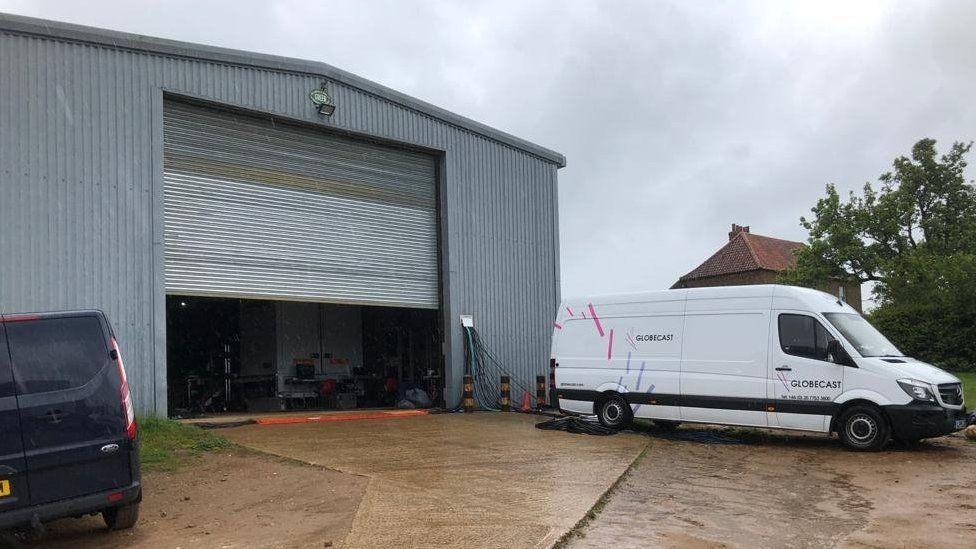The barn where the Springwatch crew has set up