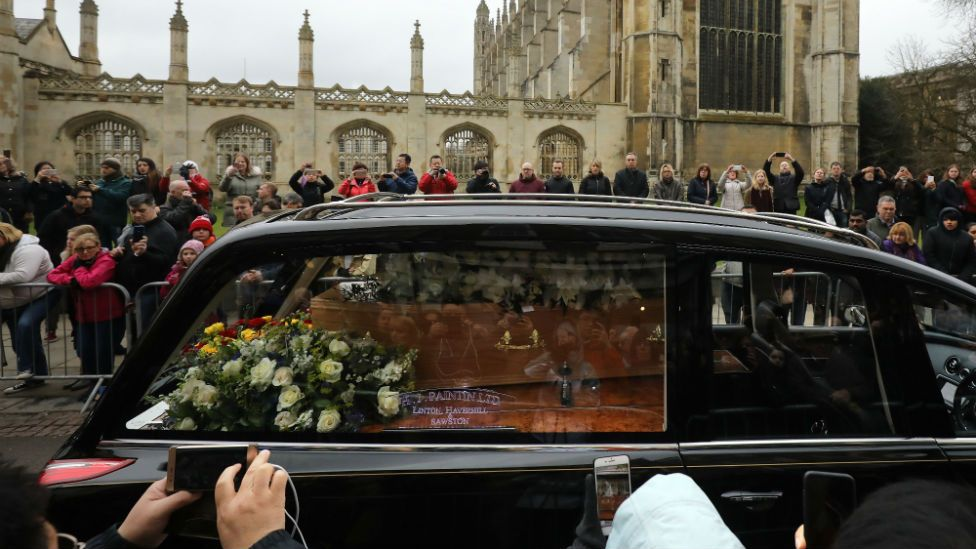 Stephen Hawking's coffin