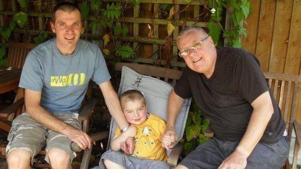 John Whiteley, Laughlin and his granddad