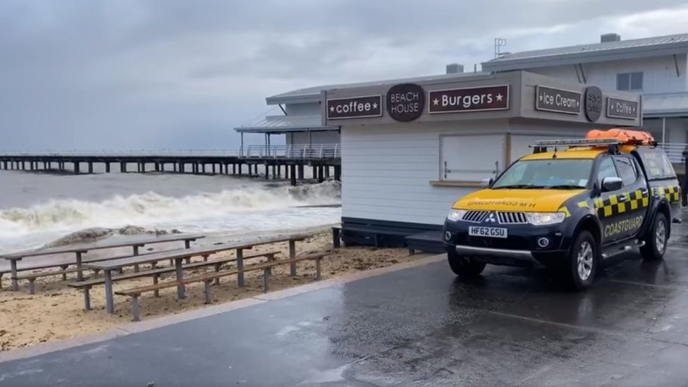 Coastguard at beach