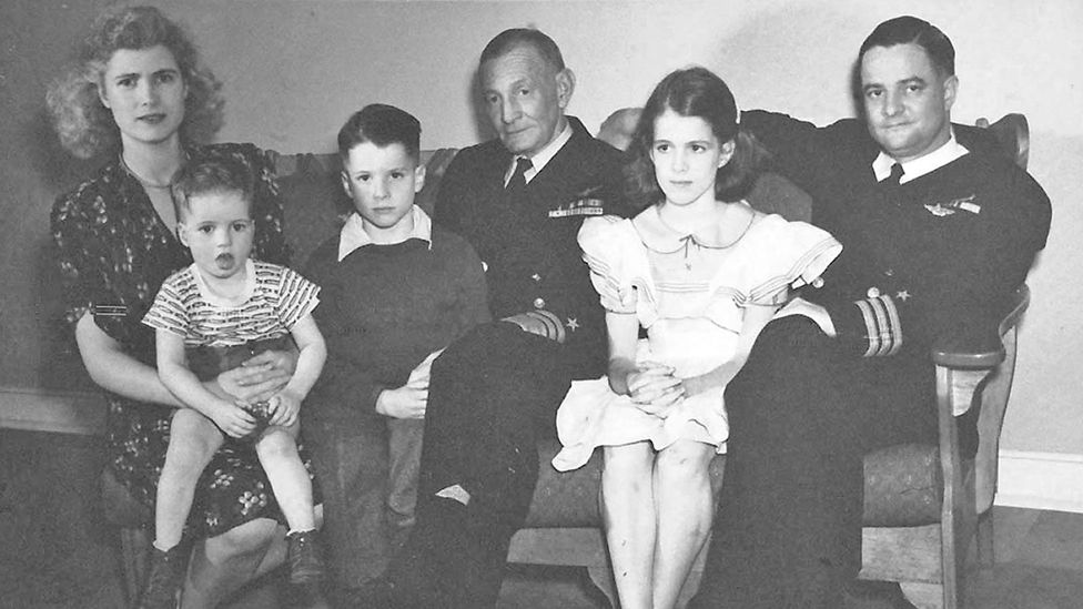 Family portrait from the office of United States Senator John McCain (Republican of Arizona), the presumptive 2008 Republican nominee for President of the United States, circa 1944.