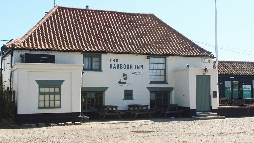The Harbour Inn pub in Southwold, Suffolk.