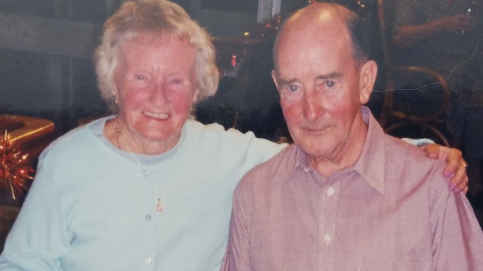 Andrew Oakden pictured with his wife Kathleen