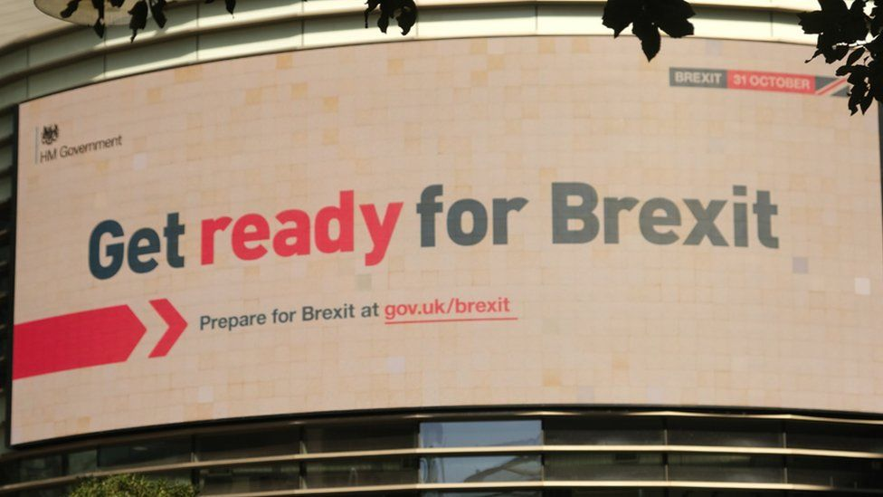 Brexit date downplayed in government advertising shift