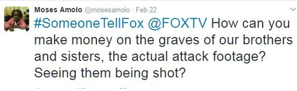Tweet by Moses Amolo